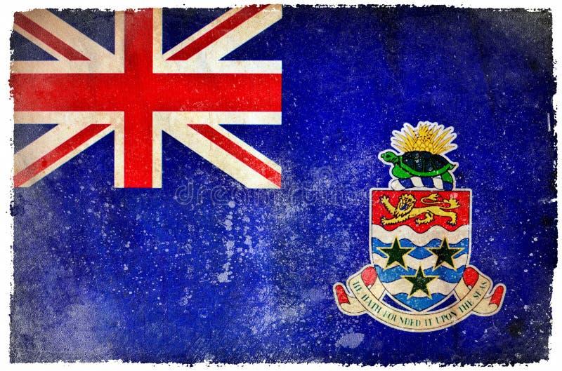 Caymanöarna grungeflagga vektor illustrationer