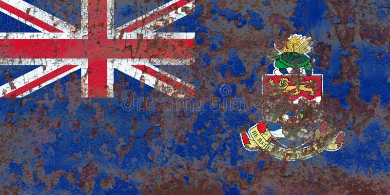 Caymanöarna grungeflagga, brittiska utländska territorier, Britai royaltyfri foto