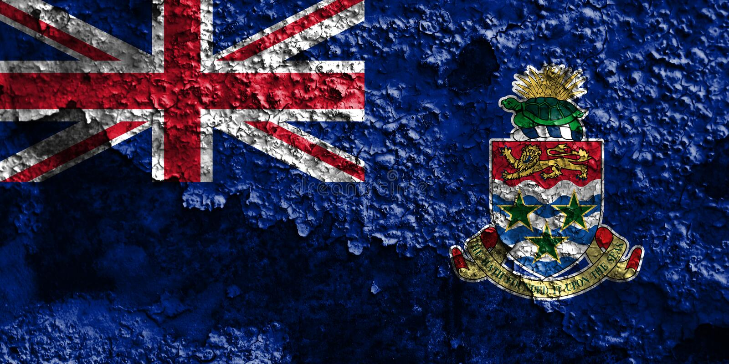 Caymanöarna grungeflagga, brittiska utländska territorier, Britai royaltyfri bild