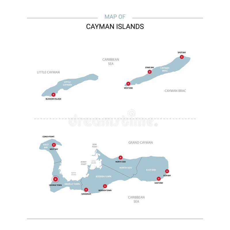 Cayman Islands vector map stock illustration