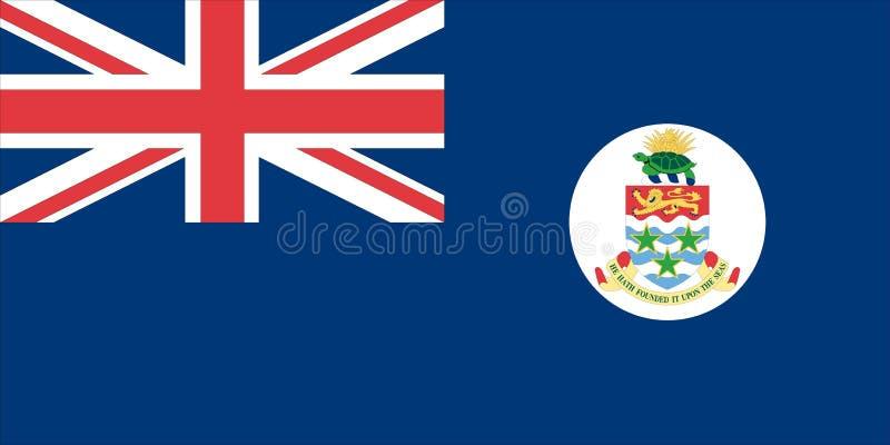 caymanflaggaöar stock illustrationer