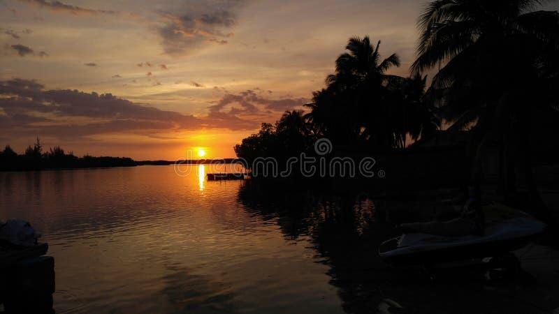 Cayo largo marina sunset royalty free stock photography