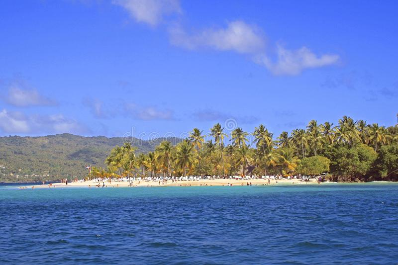 Cayo Levantado w Samana, republika dominikańska obraz royalty free