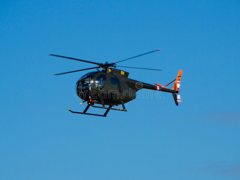 Cayuse för U.S.A.F. Hughes OH-6 arkivbilder
