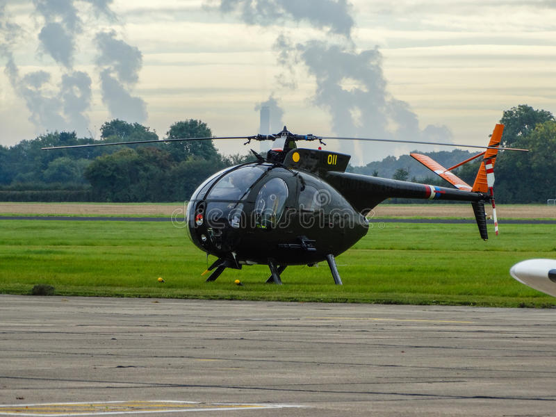 Cayuse för U.S.A.F. Hughes OH-6 arkivfoto