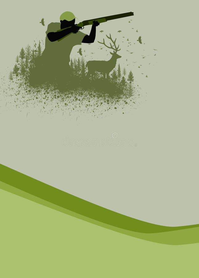 Caza ilustración del vector