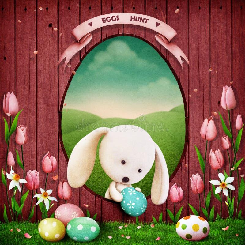Caza de los huevos stock de ilustración