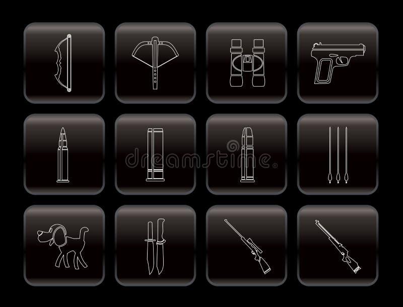 Caza e iconos de los brazos libre illustration