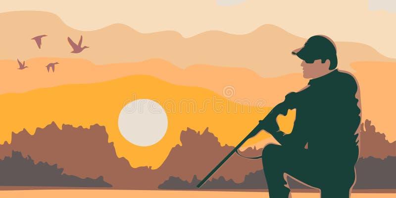 cazador stock de ilustración