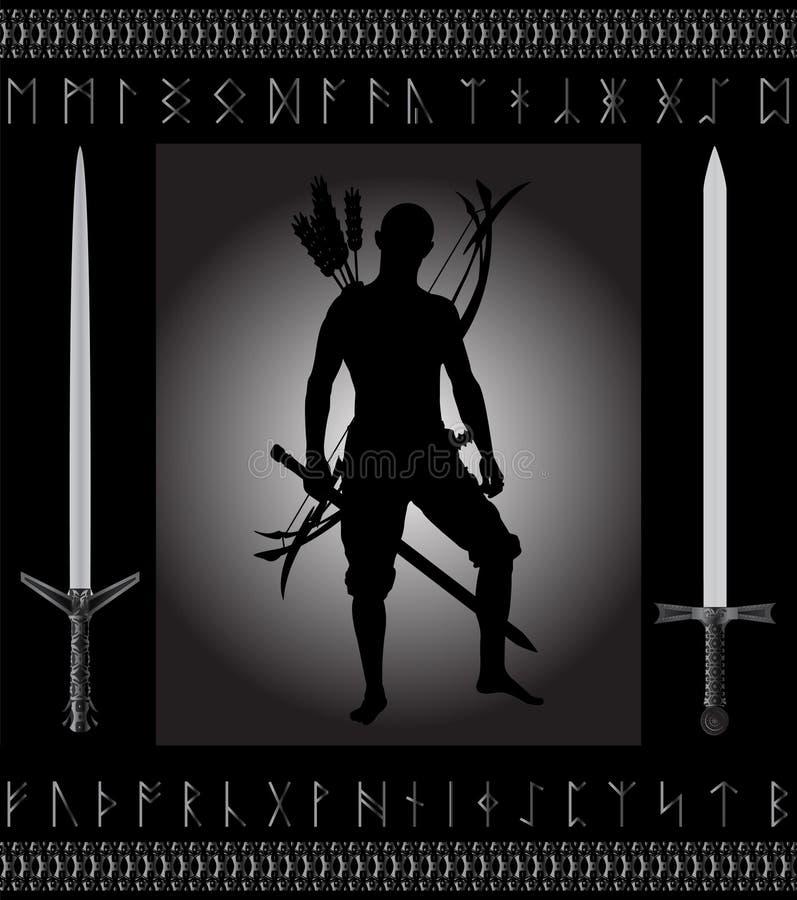 Cazador de la fantasía ilustración del vector