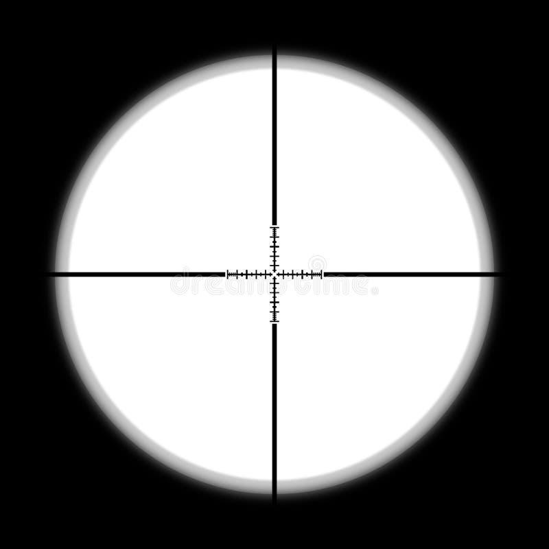 Cazador del alcance del francotirador stock de ilustración