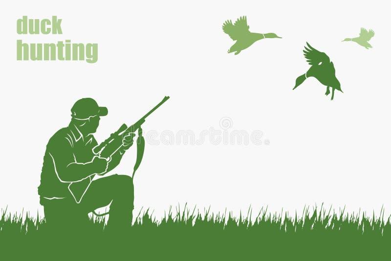 Cazador del pato ilustración del vector