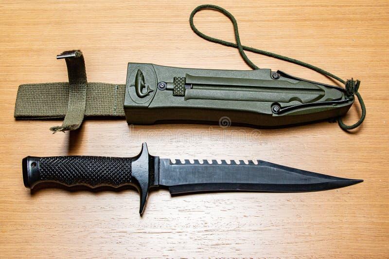 Cazando o cuchillo de pesca fotografía de archivo libre de regalías