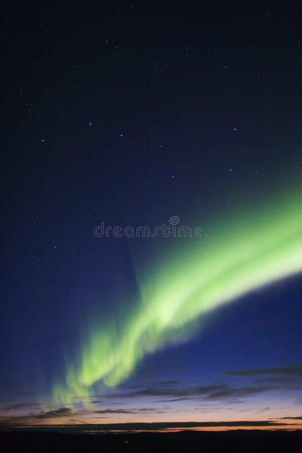Cazo de la aurora, crepuscular y grande foto de archivo libre de regalías
