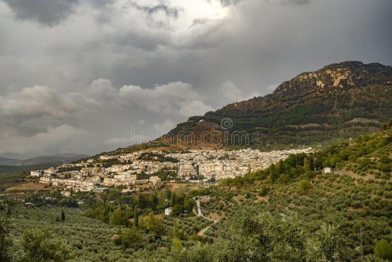 Cazorla村庄Jaen安大路西亚西班牙 库存图片