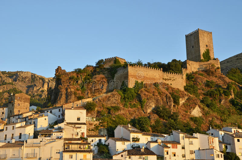 Cazorla Castle. In the evening stock images
