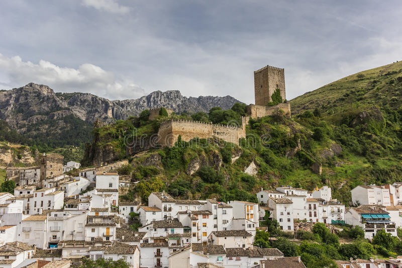 Cazorla castle. Medieval castle above Cazorla village in Spain royalty free stock photo