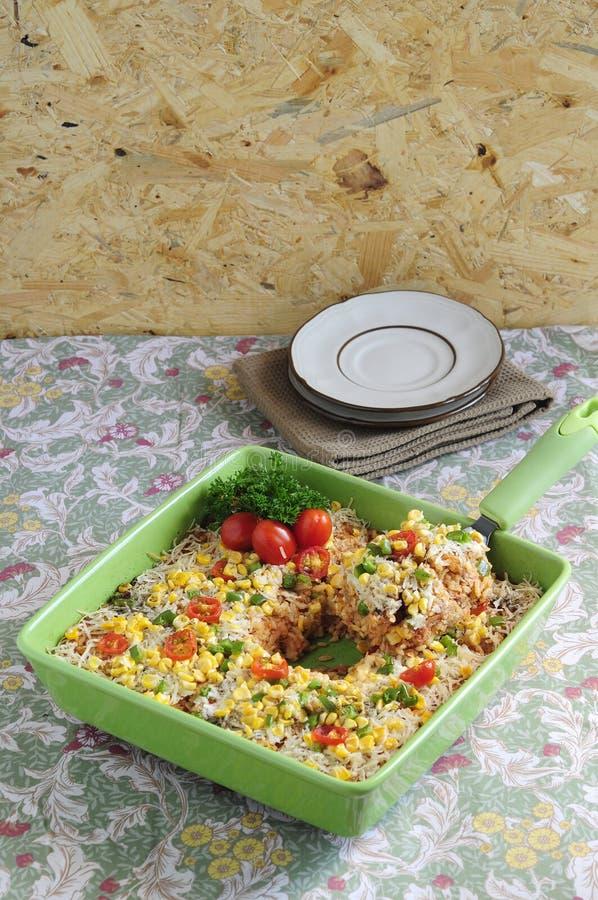 Cazuela 06 del arroz imagenes de archivo