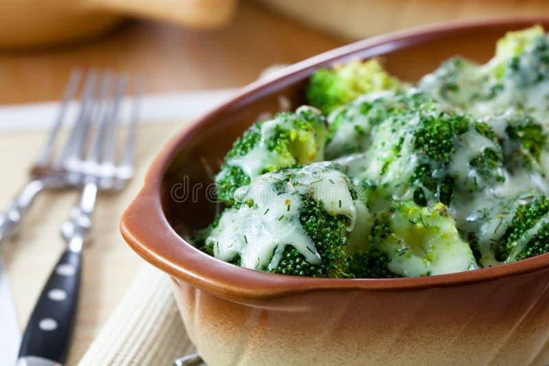 Cazuela del bróculi foto de archivo