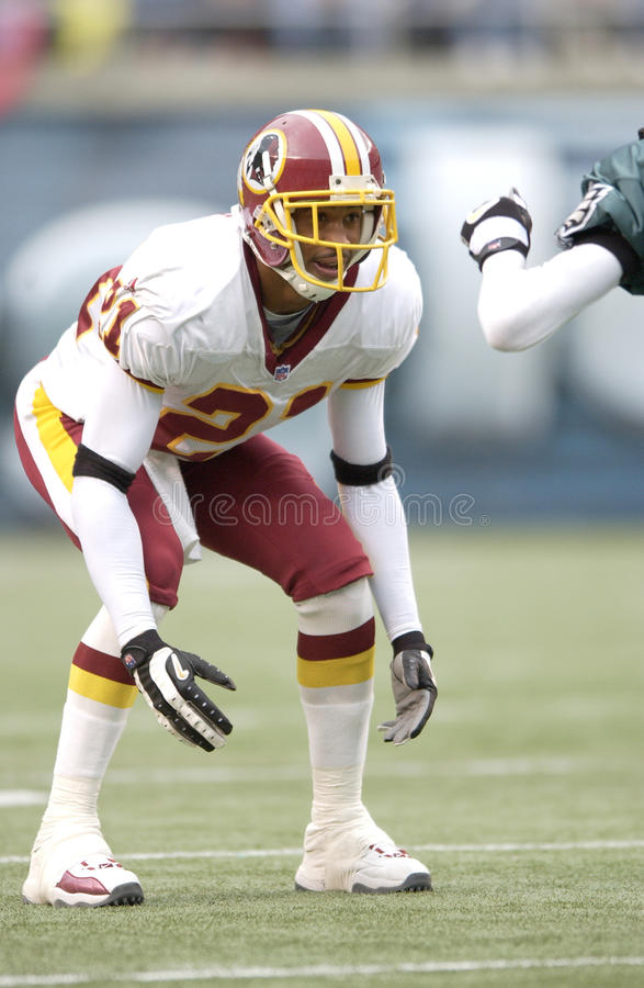 CB Fred Smoot de Washington Redskins fotos de stock royalty free