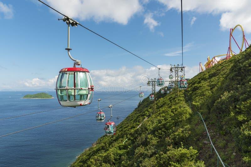 Cbale cea im Ozean-Park von Hong Kong lizenzfreie stockfotografie