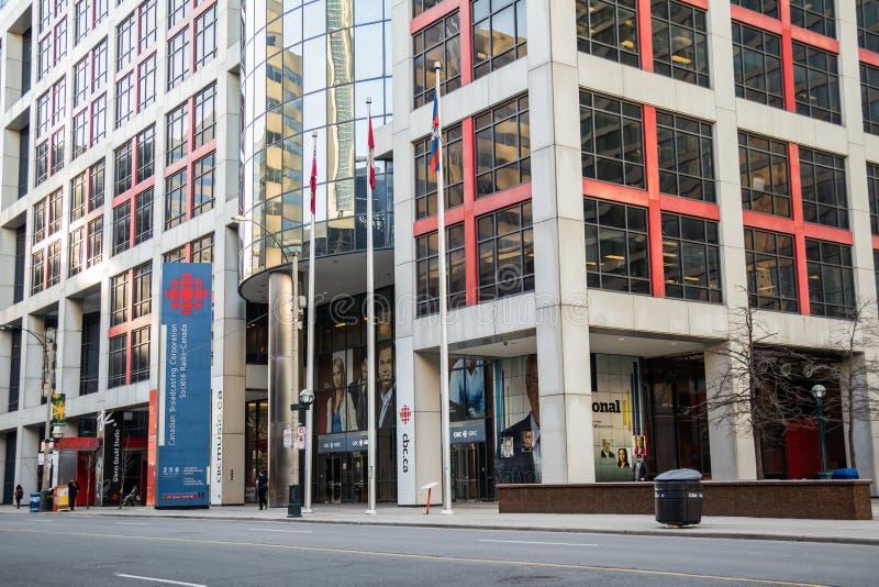 CBC budynku śródmieście Toronto zdjęcia stock