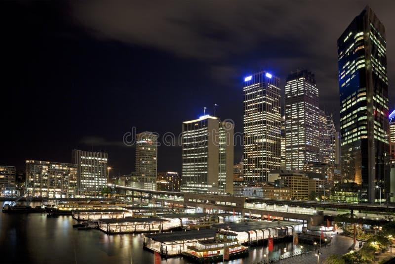 cbd晚上悉尼 库存图片