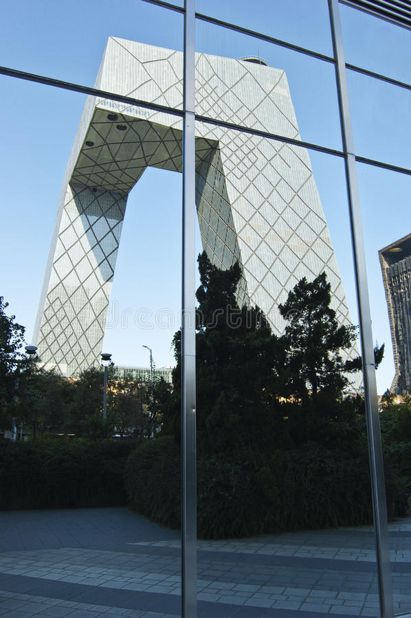 Download CBD-Beijing -CCTV Tower In Mirror Editorial Photo - Image: 18812581