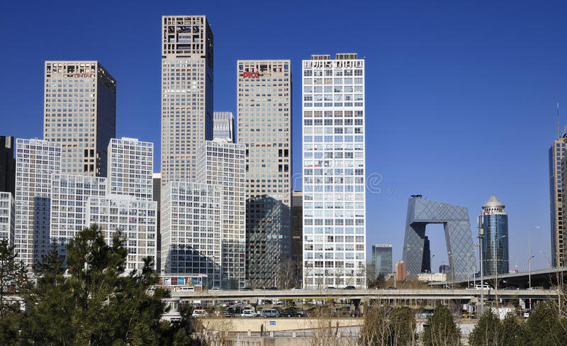 CBD-Beijing city Economic centers. This is Beijing's Central Business District-Economic centers.Real estate is China's most important industries now.House prices royalty free stock photos