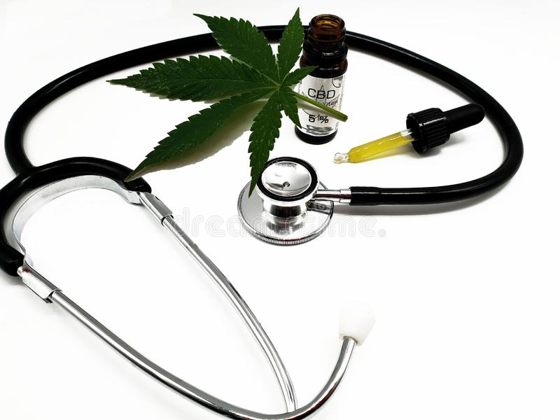 CBD Hemp Oily in Alternative Medicine stock photo