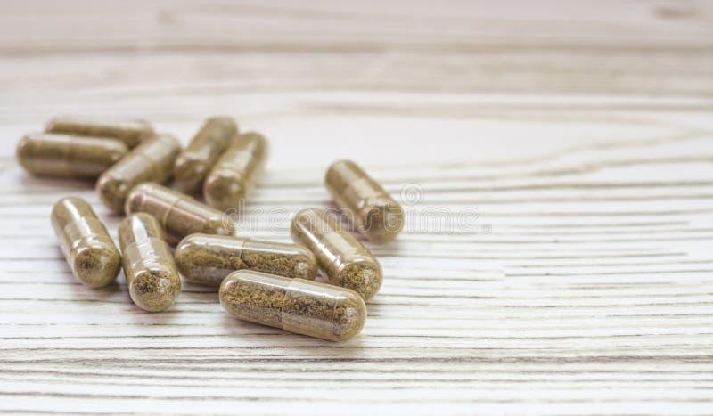 CBD-pillen stock afbeelding