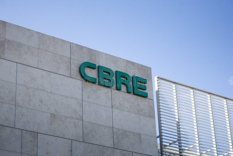 CBRE-de bouw teken royalty-vrije stock foto's