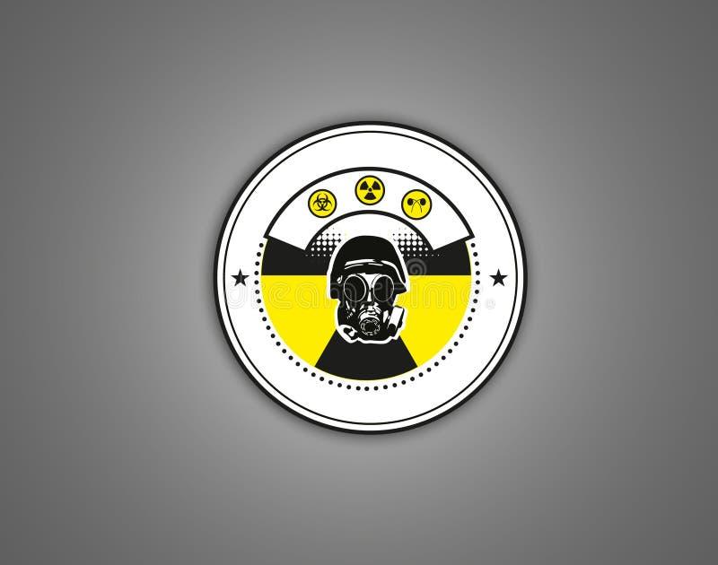 Cbrn危险警告商标 免版税库存照片
