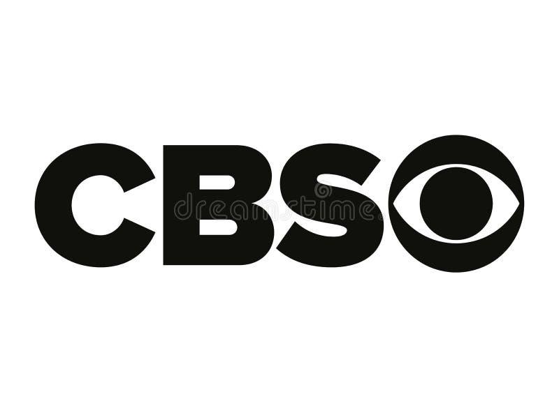 CBS-Embleem royalty-vrije illustratie