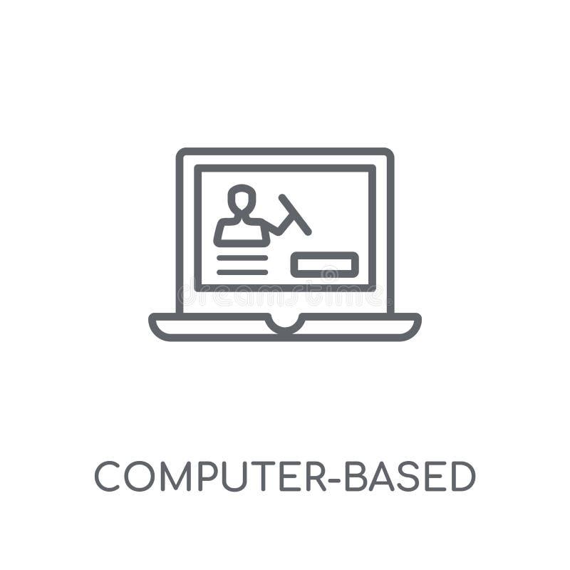 CBT lineair pictogram Moderne overzichtscomputer -computer-bas stock illustratie