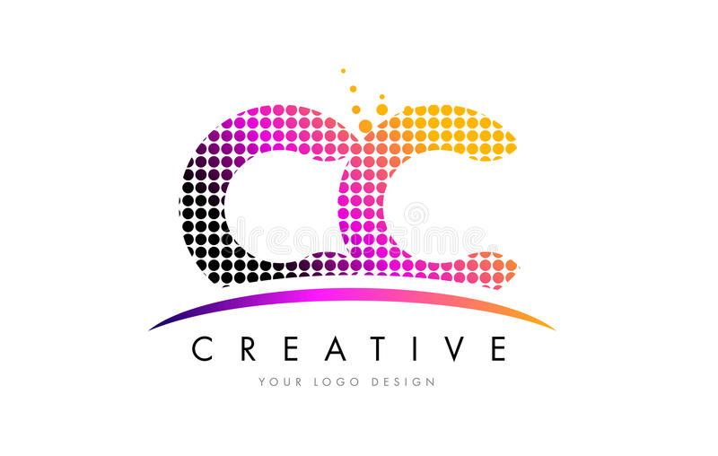 Cc c c letter logo design with magenta dots and swoosh stock vector download cc c c letter logo design with magenta dots and swoosh stock vector illustration of thecheapjerseys Image collections