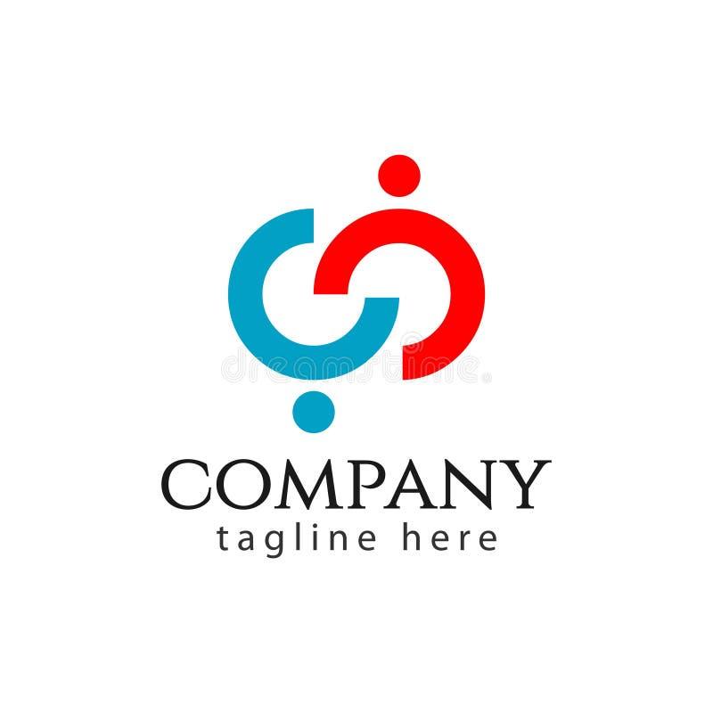 CC Company Logo Vector Template Design Illustration illustration stock