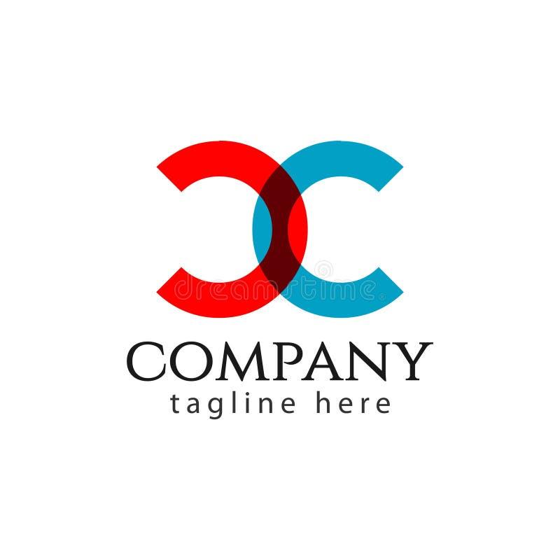 CC Firmy logo listu szablonu projekta Wektorowa ilustracja ilustracja wektor