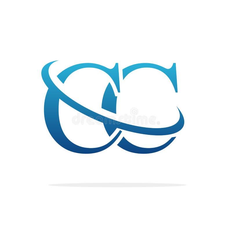 CC idérik konst för logodesignvektor royaltyfri illustrationer