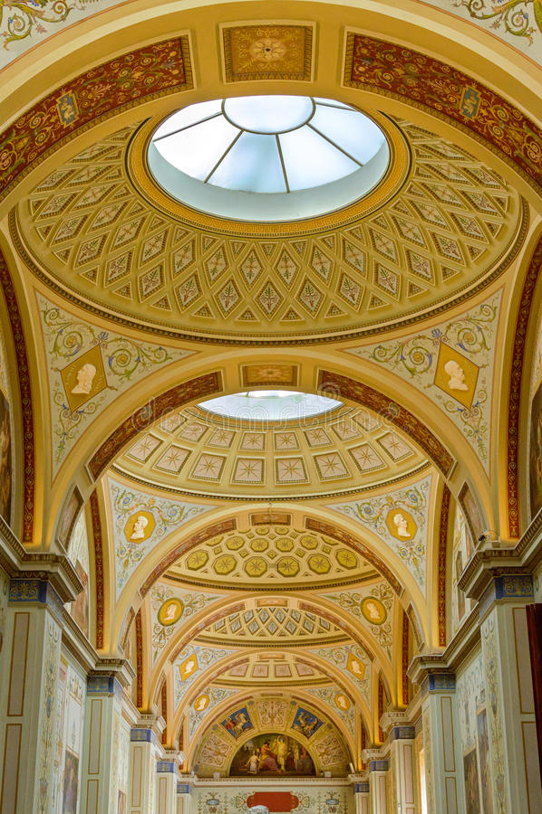 CC$PETERSBURG, ROSJA wnętrze erem muzealna sztuka i kultura w świętym Petersburg, obraz stock