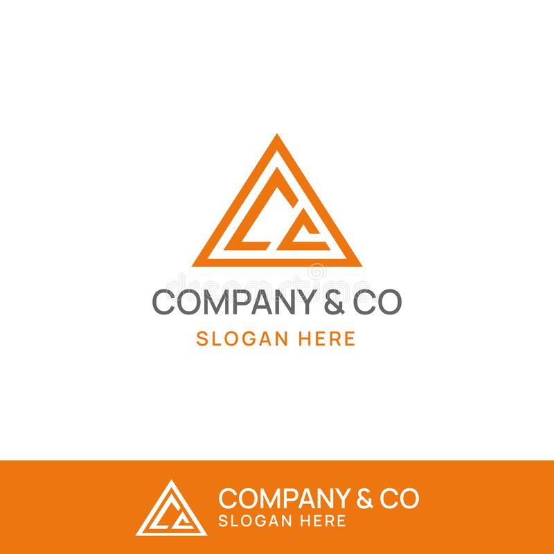 Free CC Triangle Logo Template Royalty Free Stock Images - 180790199