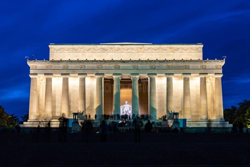 CC U.S.A. di Lincoln Memorial Washington fotografia stock libera da diritti