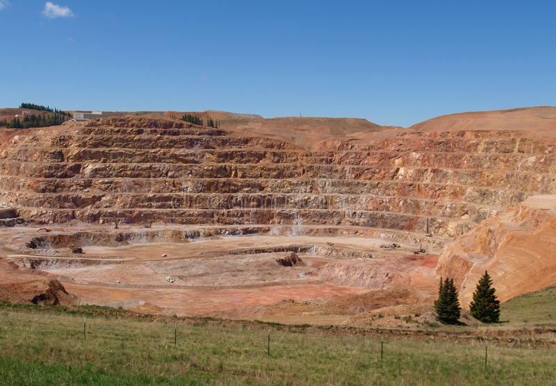 CC and V Gold Mine stock image
