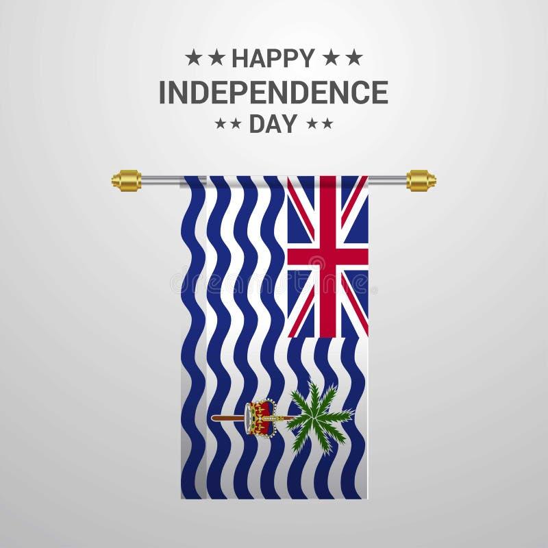 CCB accrochant de drapeau de Jour de la Déclaration d'Indépendance de territoire d'Océan Indien britannique illustration libre de droits
