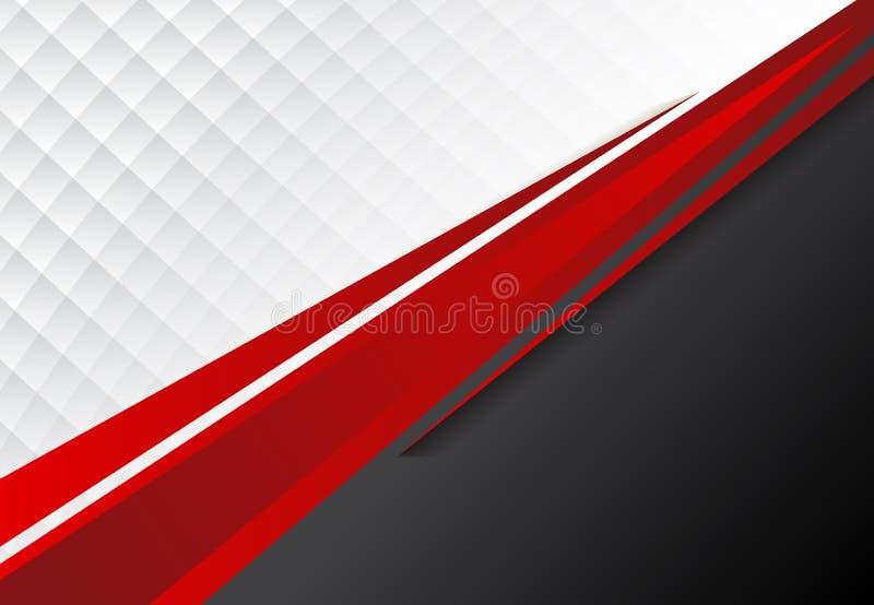 CCB cinzento do conceito incorporado do molde e branco preto vermelho do contraste ilustração do vetor