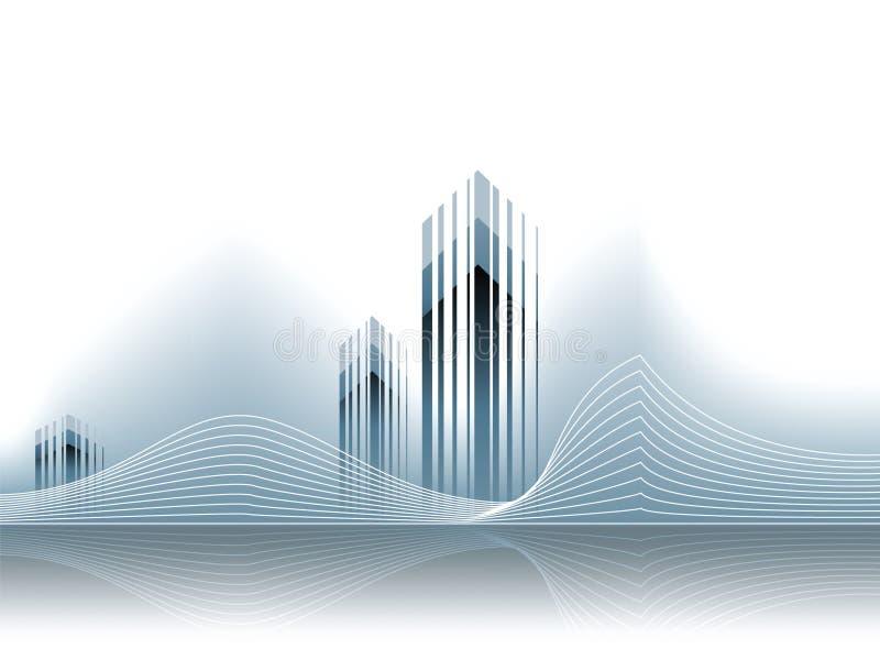 CCB corporativo del modelo de las propiedades inmobiliarias del asunto del vector libre illustration
