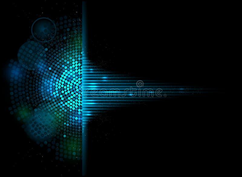 CCB del negocio del concepto de la informática del equalizador del volumen de la música ilustración del vector