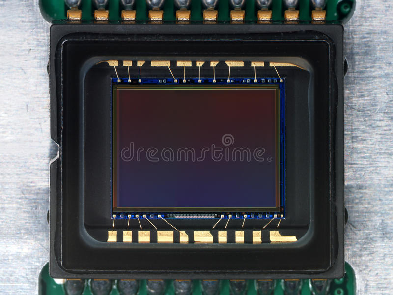 CCD detector from camera. CCD detector from digital camera stock images