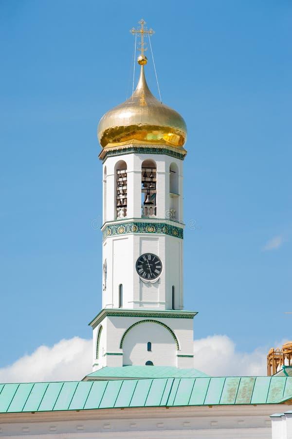 Clock tower of the Resurrection New Jerusalem Monastery stock photos