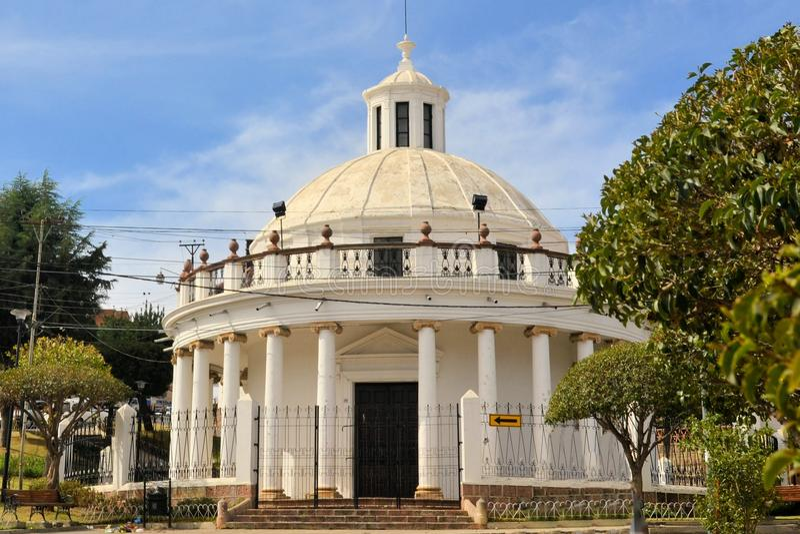 Ccolonial building La Rotonda in Sucre, Bolivia royalty free stock images